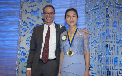 Zhuyun (Maggie) Xiao, Prof. Rob Candler's PhD student, was awarded the Edward K. Rice Outstanding M.S. Student Award.