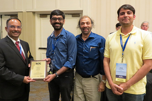 Siva Chandra Jangam, advised by Prof. Iyer, wins Best Student Paper @ 68th Electronic Components & Technology Conf.