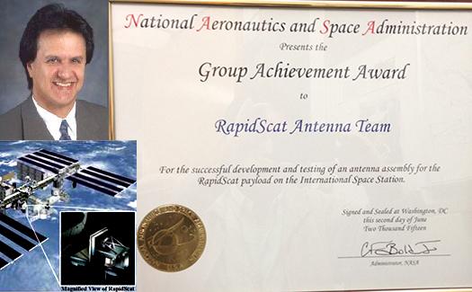Distinguished Professor Yahya Rahmat-Samii Receives NASA Group Achievement Award for his work on International Space Station RapidScat Antenna Design.