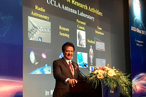 Distinguished Prof. Rahmat-Samii was the Keynote Speaker at the 2017 ACES Conference, Suzhou, China