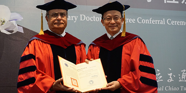 Distinguished Adj. Prof. Asad Madni Awarded Honorary Doctorate & Chair Professorship from NCTU, Taiwan