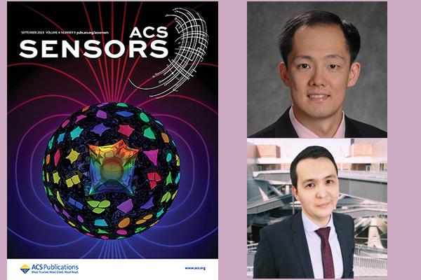 Prof. Chui & Ph.D. Student, Ablaikhan Akhazhanov, have cover published on ACS Sensors