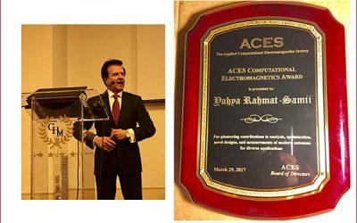 Distinguished Prof. Yahya Rahmat-Samii received the 2017 ACES Computational Electromagnetics Award