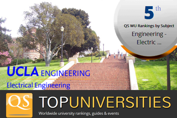 UCLA Electrical Engineering ranked 5th in QS World Rankings