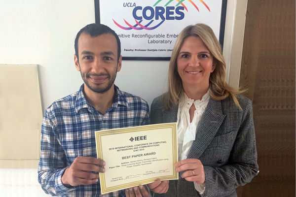Samer Hanna and Prof. Danijela Cabric won the Best Paper Award at IEEE ICNC 2019