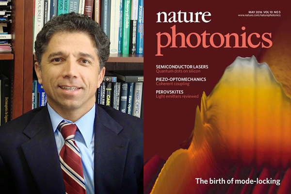Prof. Jalali's work in collaboration with U. Gottingen in Germany appeared on the cover of Nature Photonics-5/2016.