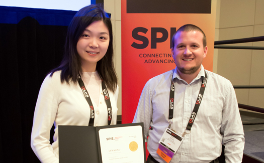 Luyao Xu wins Best Student Presentation Award at Photonics West