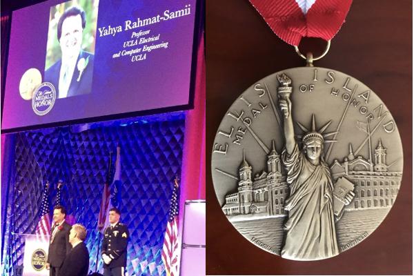 Distinguished Professor Yahya Rahmat-Samii awarded 2019 Ellis Island Medal of Honor