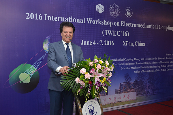 Distinguished Prof. Rahmat-Samii was the Plenary Speaker at an Int'l Workshop on Electromechanical Coupling