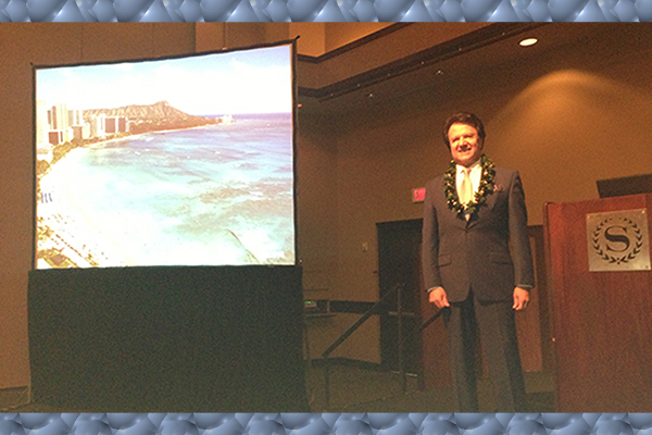 Dist. Prof. Rahmat-Samii was the Plenary Speaker @ Int'l Conf. in Hawaii