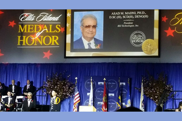 Distinguished Adjunct Professor Asad M. Madni awarded 2016 Ellis Island Medal of Honor