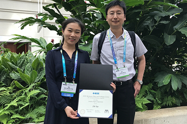 Graduate Zhi Yao, advised by Prof. Ethan Wang, wins Best Paper Award at the 2017 IEEE Int'l Microwave Symposium