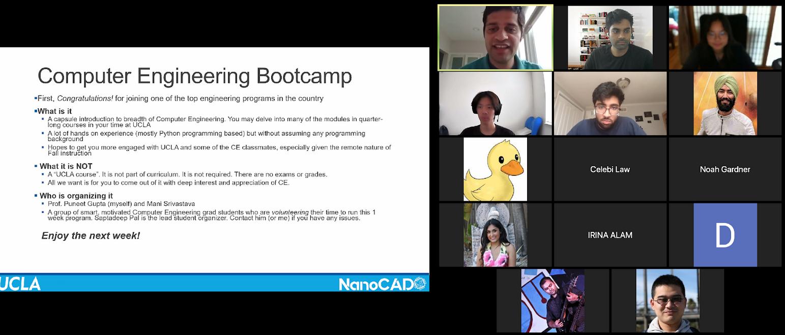 Virtual computer engineering bootcamp