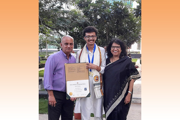 Pradyumna Chari, Prof. Kadambi's student, receives the President of India Gold Medal from the Indian Institute of Technology, Madras