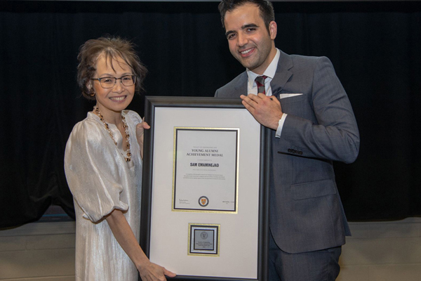 ECE's Prof. Sam Emaminejad receives the University of Waterloo's Young Alumni Achievement Medal