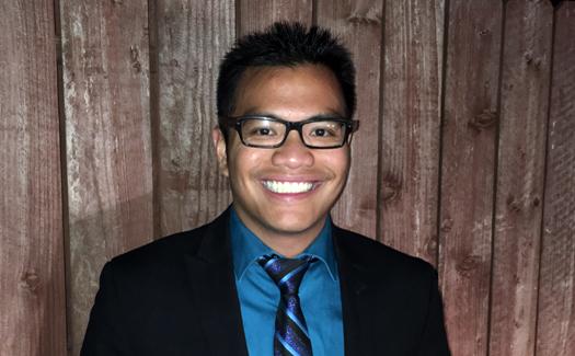 Jean Paul Santos winner of the 2016 Edward K. Rice Outstanding Master's Student Award.